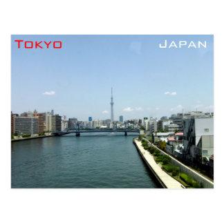 Carte Postale Skytree et Tokyo