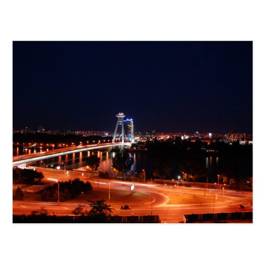 Carte Postale Slovakia - Bratislava - The Bridge At Night