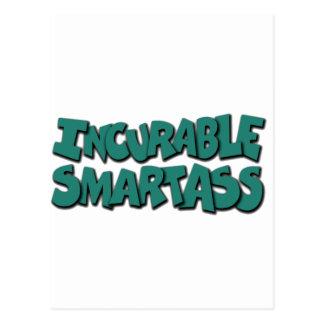 Carte Postale smartass incurables