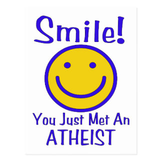 Carte Postale Smiley athée