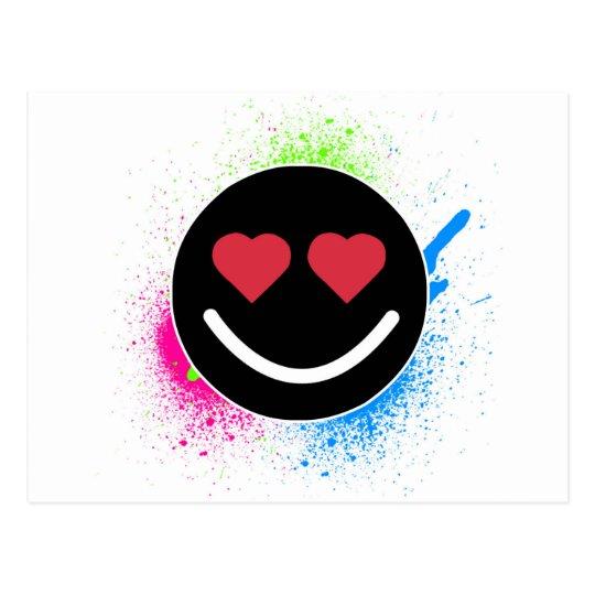 Carte Postale Smiley Coeur