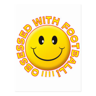 Carte Postale Smiley hanté par football
