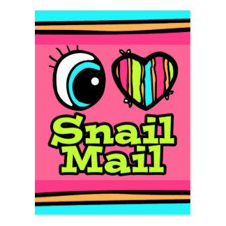 Carte Postale Snail mail lumineux d'amour du coeur I d'oeil