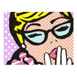 Carte postale snob de Madame bande dessinée