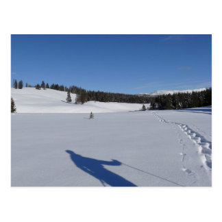 Carte Postale Snowshoeing en parc national de Yellowstone