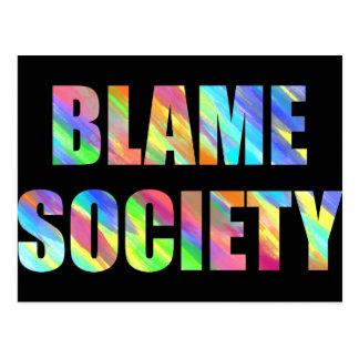 Carte Postale Société de blâme
