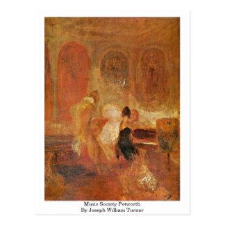 Carte Postale Société Petworth de musique par Joseph William