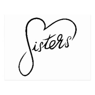 Carte Postale soeurs noires