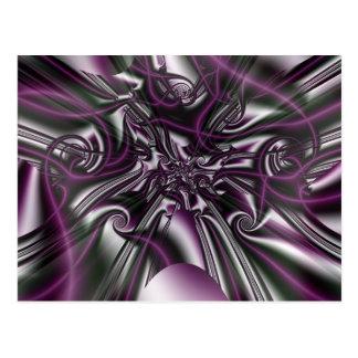 Carte Postale Soie brumeuse de fractales gothiques