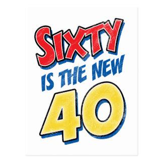 Carte Postale Soixante est le nouvel anniversaire 40