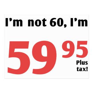 Carte Postale Soixantième anniversaire d'amusement plus l'impôt