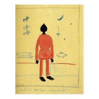 Carte Postale Soldat de turc de Kazimir Malevich-