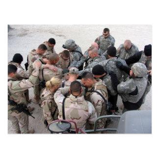 Carte Postale Soldats des USA priant - customisé