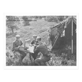 Carte postale Soldats Enigma
