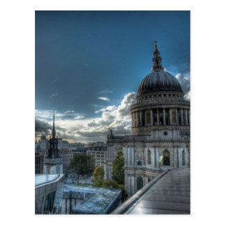 Carte Postale Soleil au-dessus de la cathédrale de St Paul,