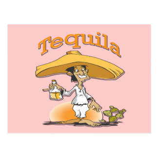 Carte Postale Sombrero de Mexicain de cactus de tequila