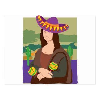 Carte Postale Sombrero de Mona Lisa
