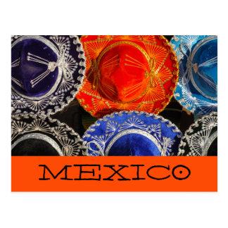 Carte Postale Sombreros mexicains colorés