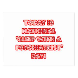 """Carte Postale """"Sommeil avec le jour national d'un psychiatre"""""""