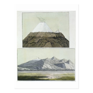 Carte Postale Sommet du Cotopaxi (dessus), et l'éruption de Coto