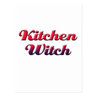 Carte Postale sorcière de cuisine