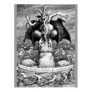 Carte Postale Sorcières et le diable
