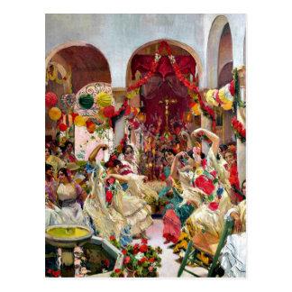 Carte Postale Sorolla : Danse de Séville-Le