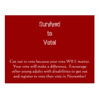 Carte Postale Sortez pour voter