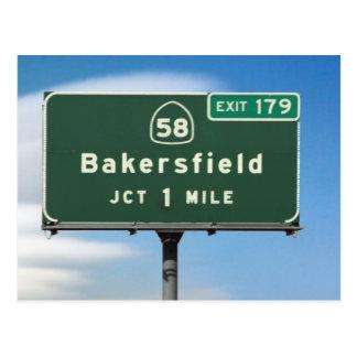 Carte Postale Sortie de Bakersfield