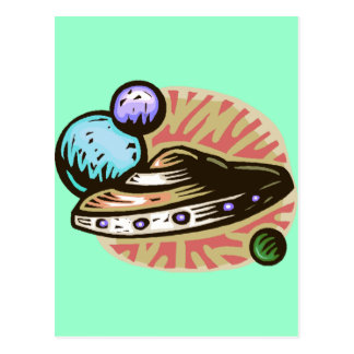 Carte Postale Soucoupe volante