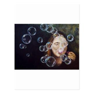 Carte Postale Souhait des bulles