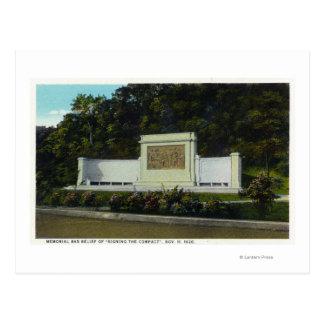 Carte Postale Soulagement de Bas commémoratif de la signature