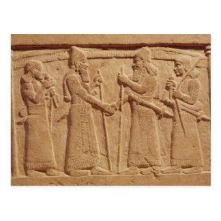Carte Postale Soulagement dépeignant le Roi Shalmaneser III