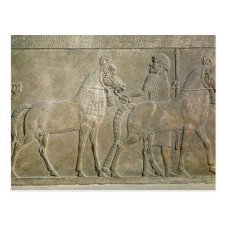 Carte Postale Soulagement dépeignant les tributaires de Sargon