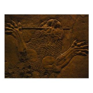 Carte Postale soulagement en pierre assyrien dans le mesopotamia