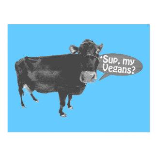 Carte Postale 'soupez mes végétaliens