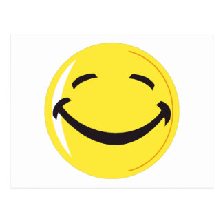Carte postale souriante de visage