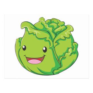 Carte Postale Sourire végétal de chou heureux