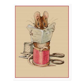 Carte Postale Souris de tailleur par Beatrix Potter