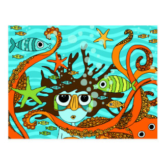 Carte Postale Sous-marin