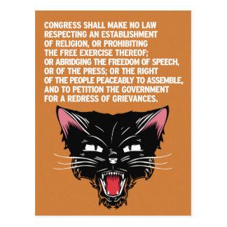 Carte Postale Soutenez et défendez la constitution
