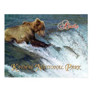 Carte Postale Soutenez le saumon contagieux, le parc national de