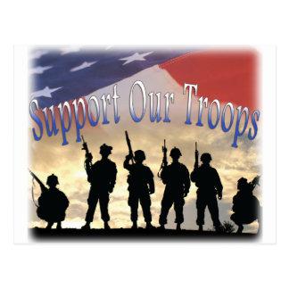 Carte Postale Soutenez nos soldats de troupes