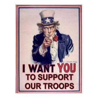 Carte Postale Soutenez nos troupes