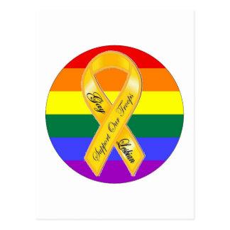 Carte Postale Soutenez nos troupes de gays et lesbiennes !