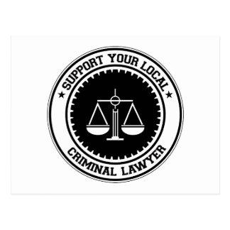 Carte Postale Soutenez votre avocat criminel local