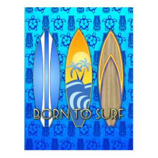 Carte Postale Soutenu pour surfer