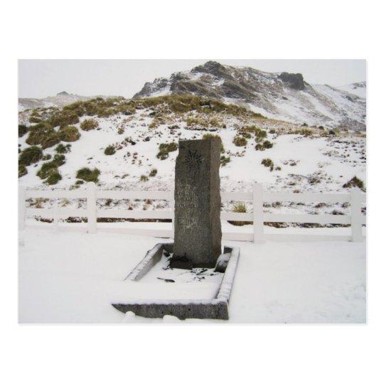 Carte Postale South Georgia Island - Sir Ernest Shackleton Grave