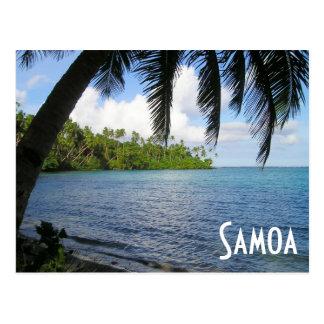 Carte Postale South Pacific a encadré par le palmier, Samoa