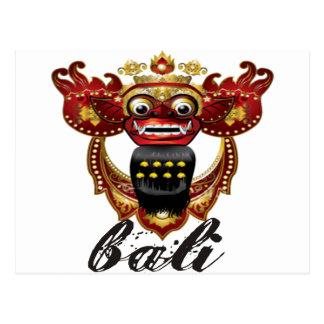 Carte Postale Souvenir de Barong Indonésie de Balinese